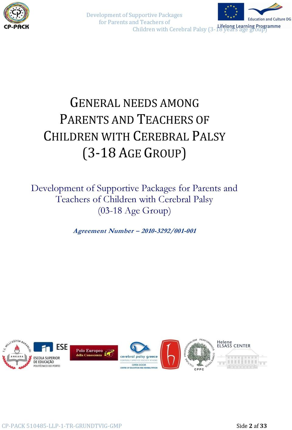 and Teachers of Children with Cerebral Palsy (03-18 Age Group)