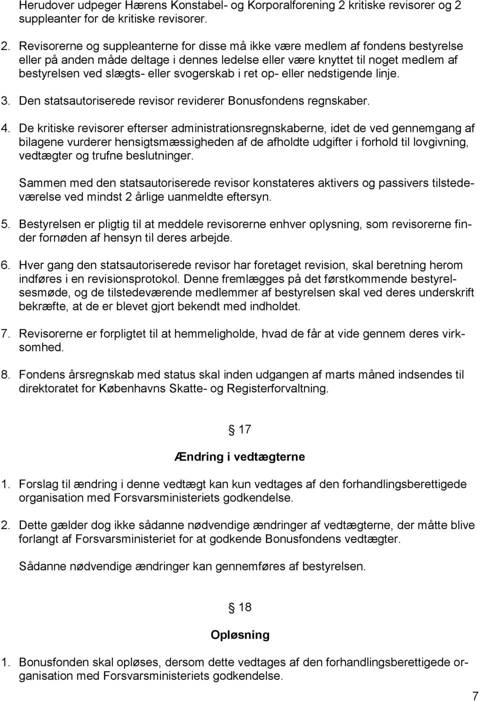 suppleanter for de kritiske revisorer. 2.