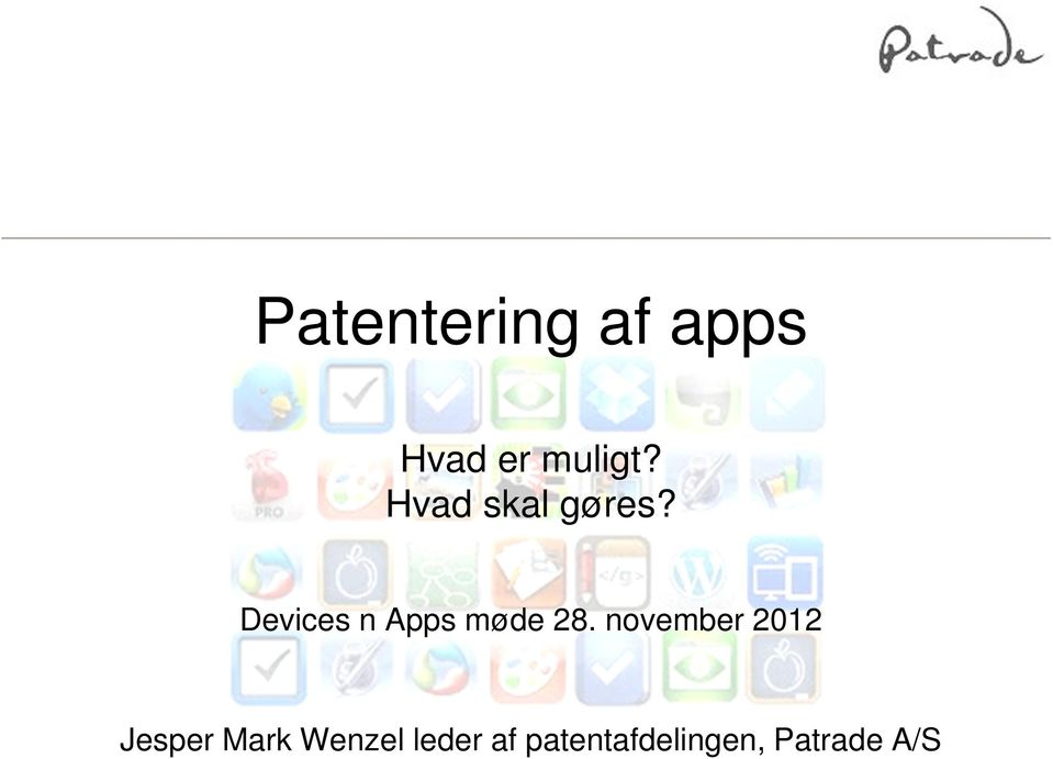 Devices n Apps møde 28.