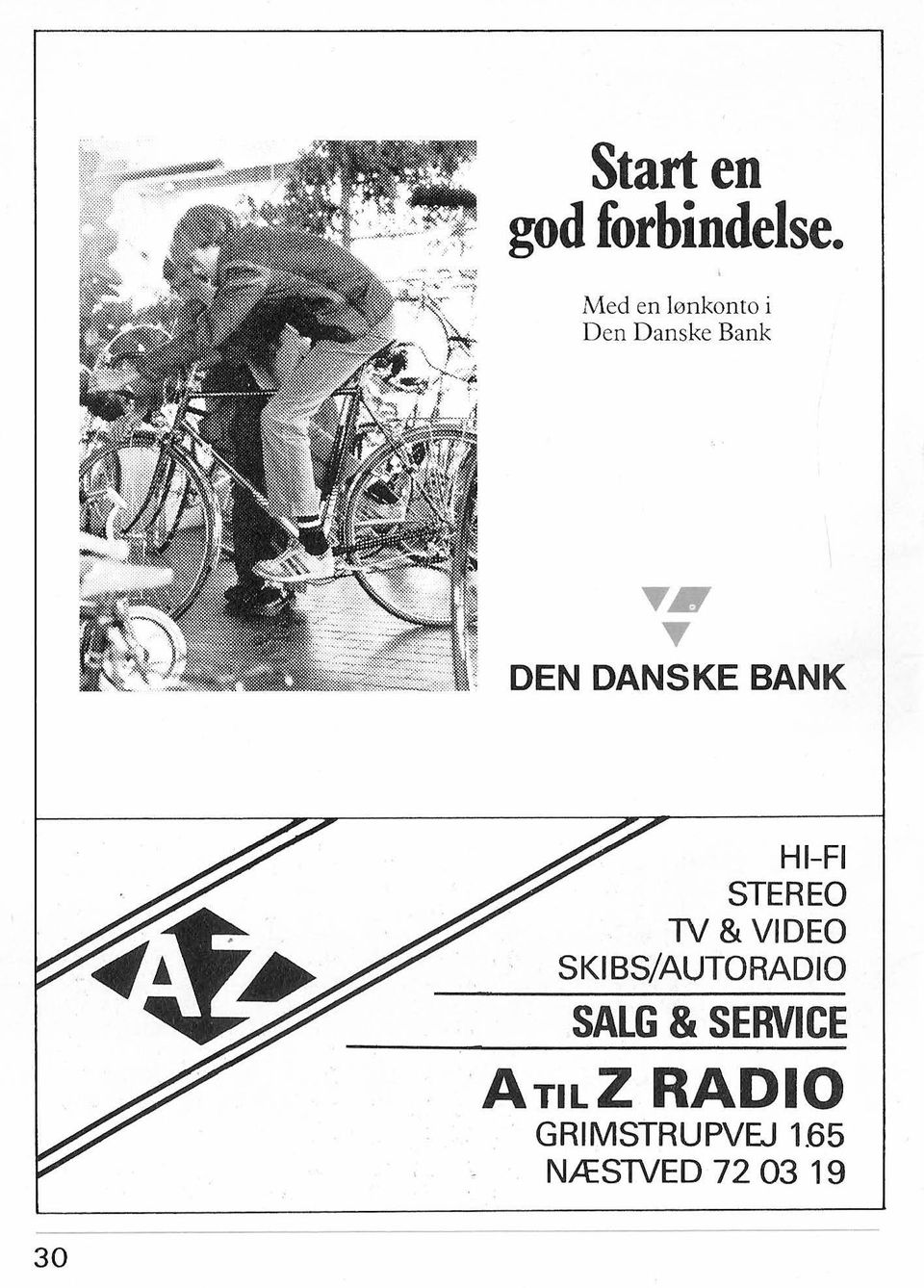 "DANSKE """" BANK HI-FI STEREO TV & VIDEO SKI"