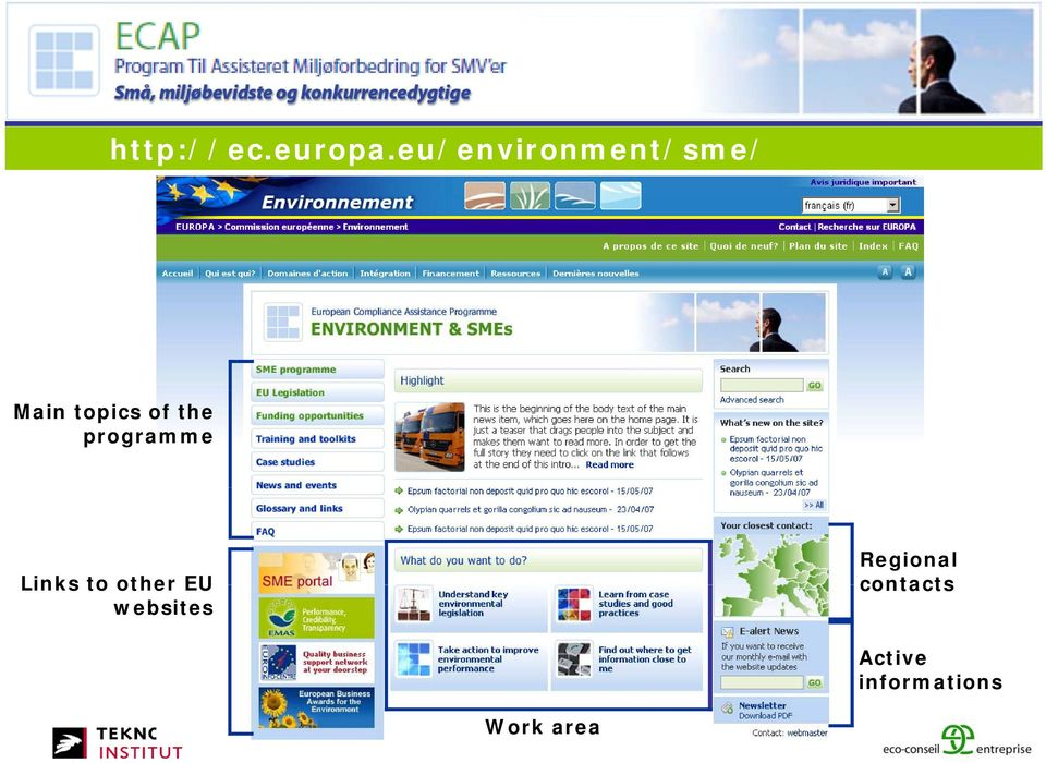 the programme Links to other EU