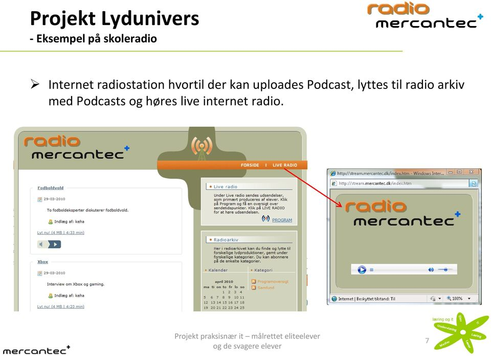 radio arkiv med Podcasts og høres live internet radio.
