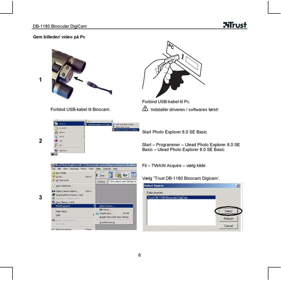 Start Photo Explorer 8.0 SE Basic Start Programmer Ulead Photo Explorer 8.