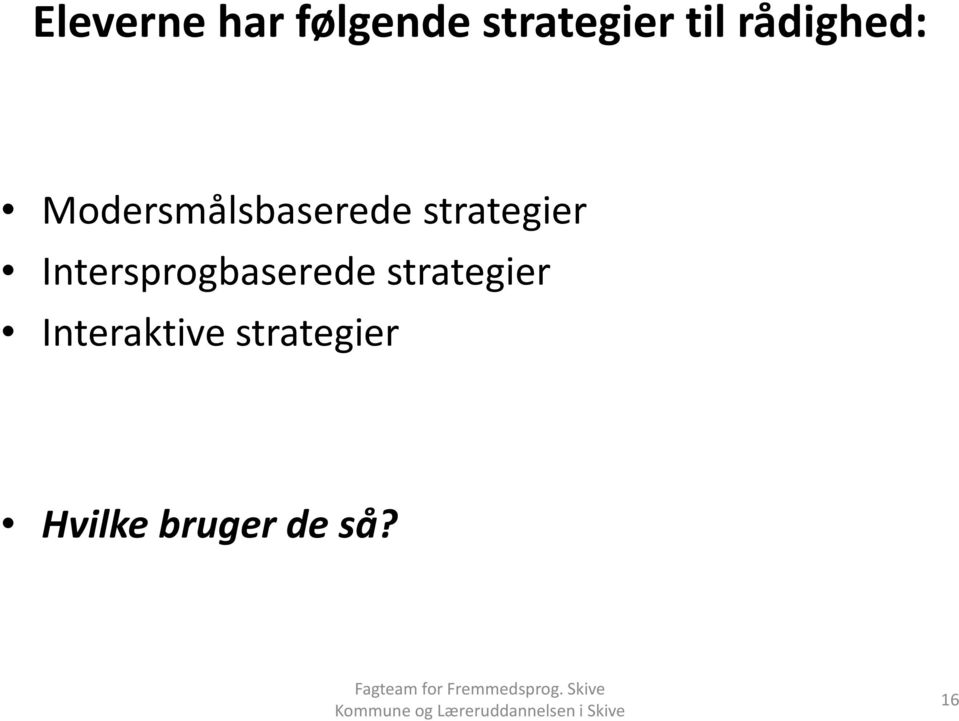 strategier Intersprogbaserede
