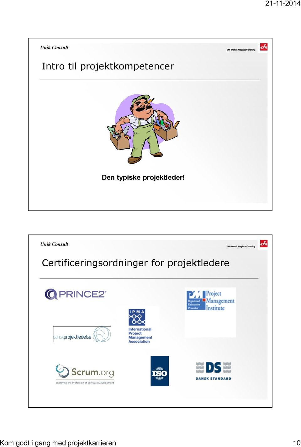 Certificeringsordninger for