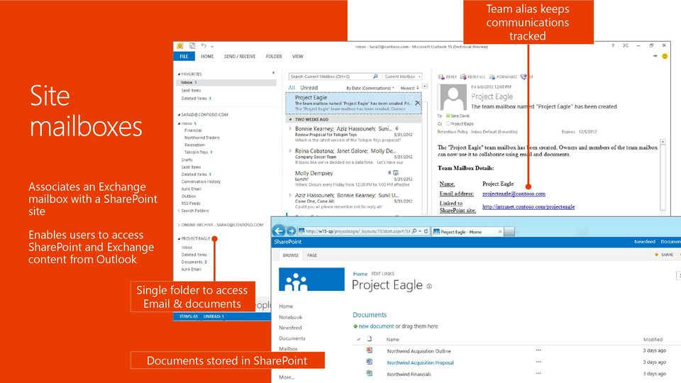 access SharePoint and Exchange content from Outlook Single