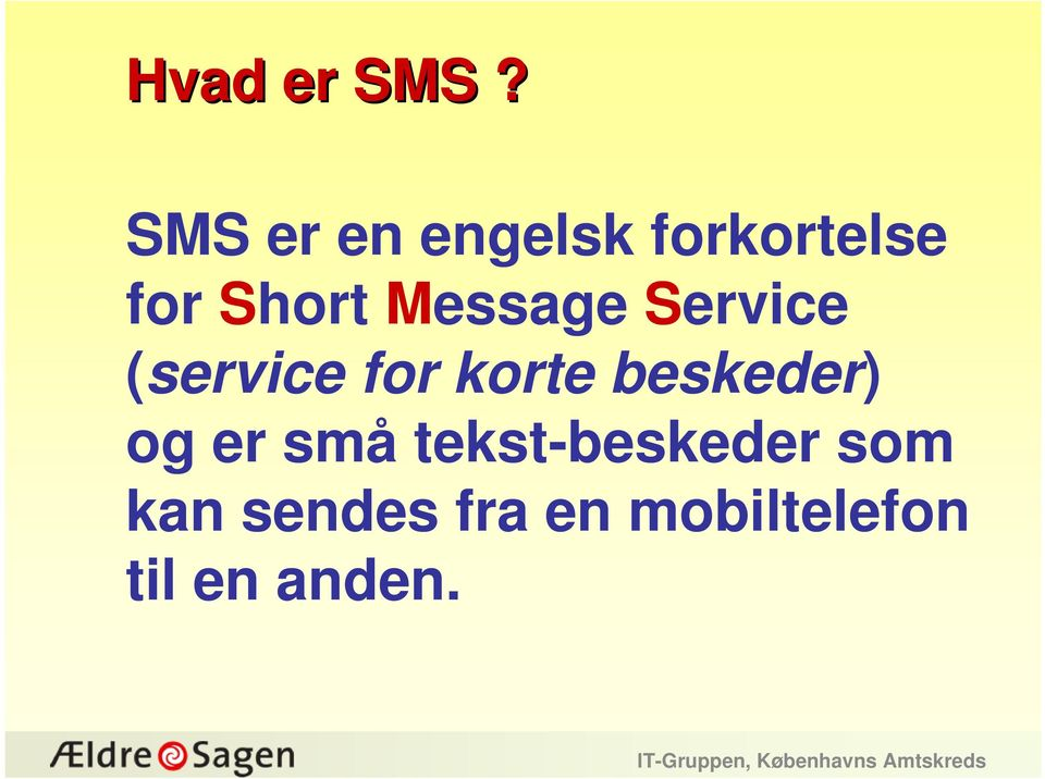 Message Service (service for korte