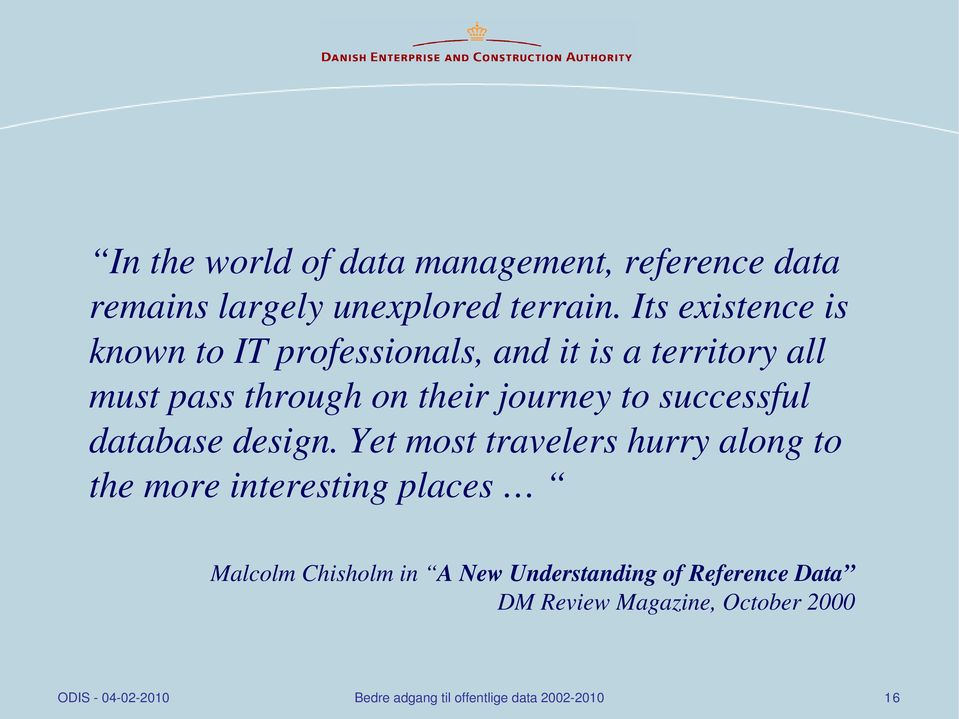 their journey to successful database design.