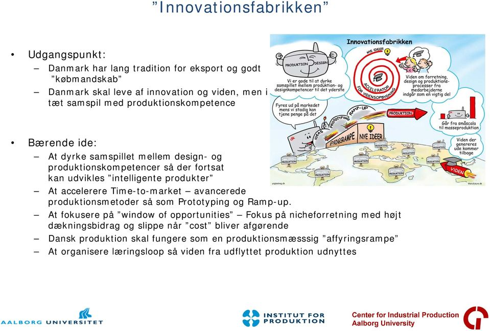 Time-to-market avancerede produktionsmetoder så som Prototyping og Ramp-up.