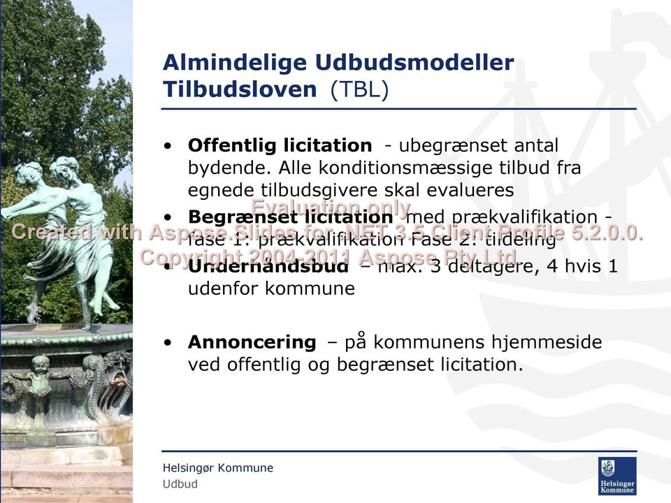 Begrænset licitation med prækvalifikation Created with Aspose.Slides for.net 3.5 Client Profile 5.2.0.