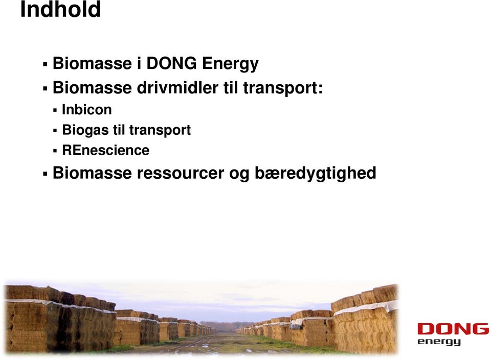 Inbicon Biogas til transport