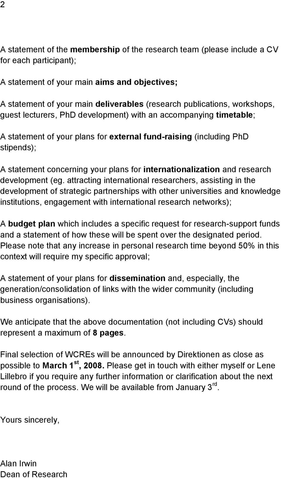 plans for internationalization and research development (eg.