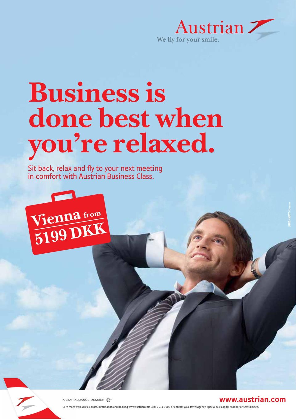 Class. Vienna from 5199 DKK Earn Miles with Miles & More.