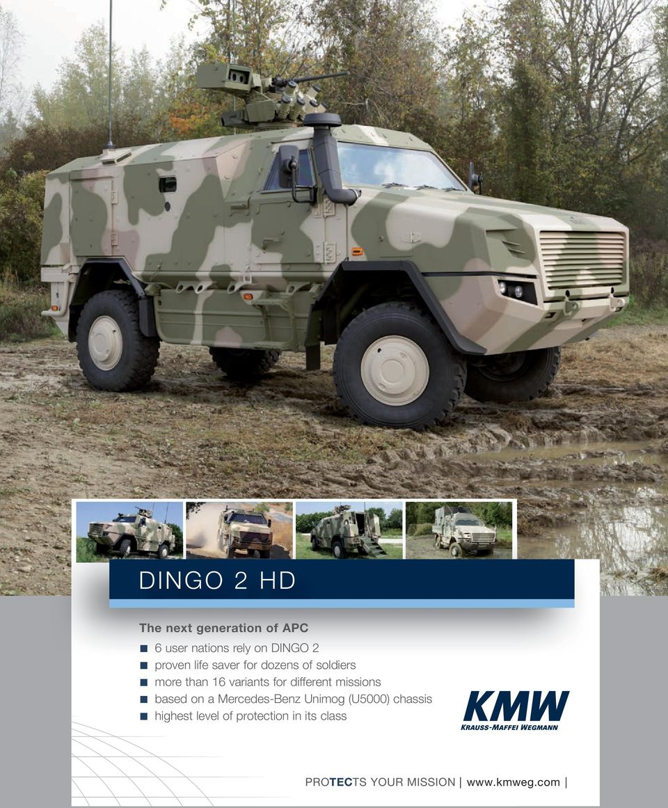 different missions based on a Mercedes-Benz Unimog (U5000) chassis