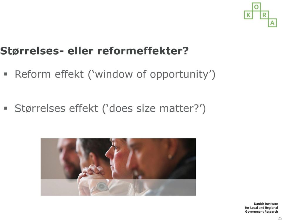 Reform effekt ( window of