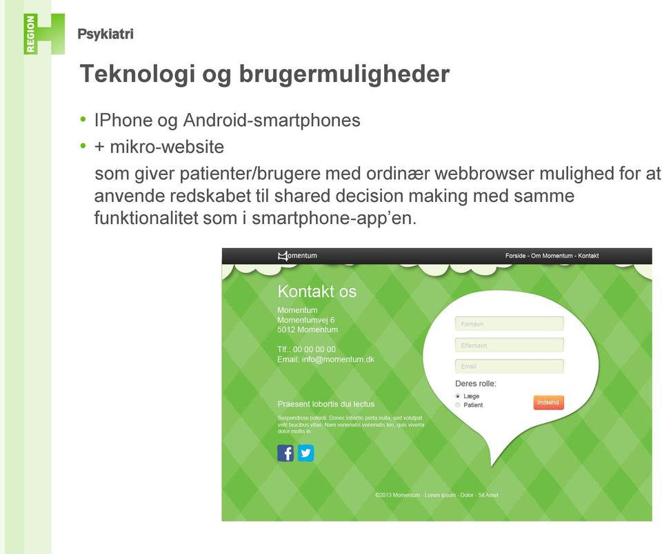 webbrowser mulighed for at anvende redskabet til shared