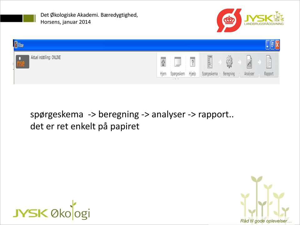 analyser -> rapport.