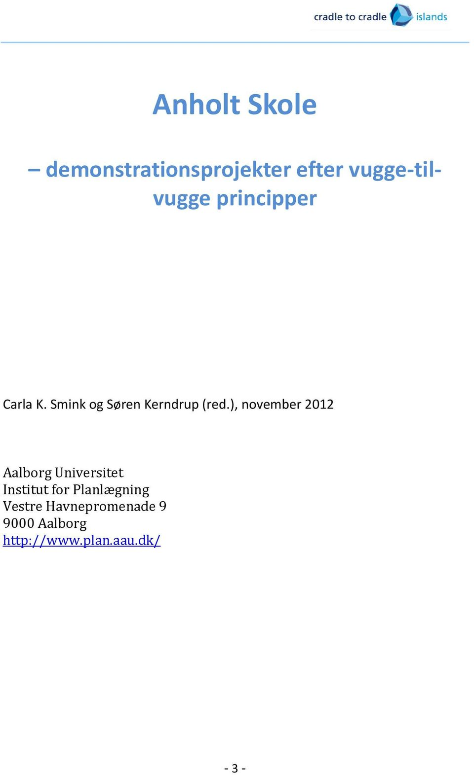 ), november 2012 Aalborg Universitet Institut for