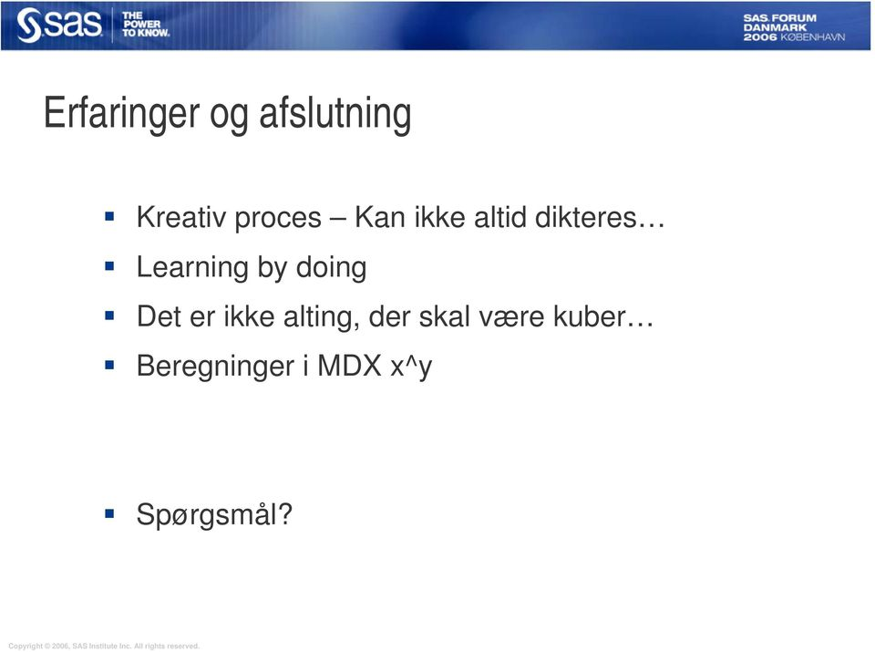 Learning by doing Det er ikke alting,