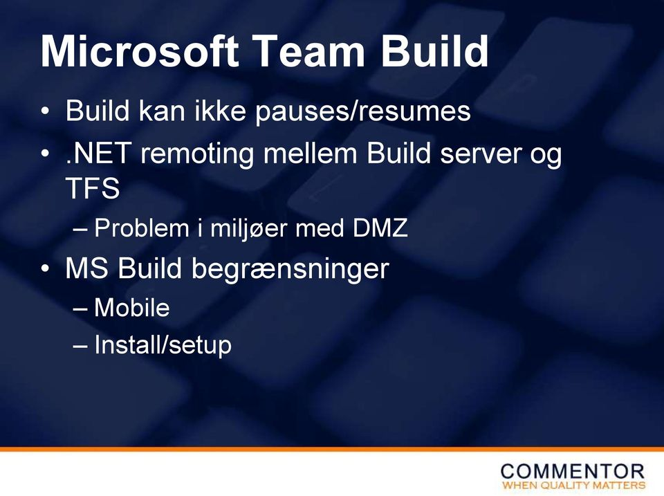net remoting mellem Build server og TFS