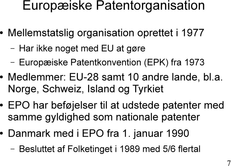 entkonvention (EPK) fra