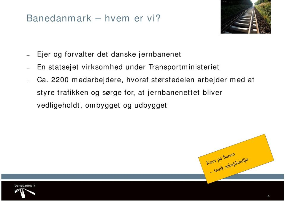 under Transportministeriet Ca.