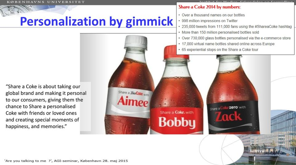 them the chance to Share a personalised Coke with friends or