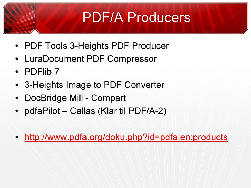PDF Converter DocBridge Mill - Compart pdfapilot Callas