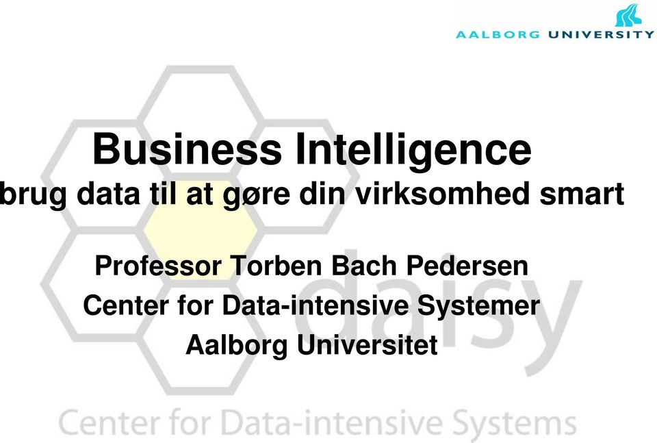 Professor Torben Bach Pedersen Center