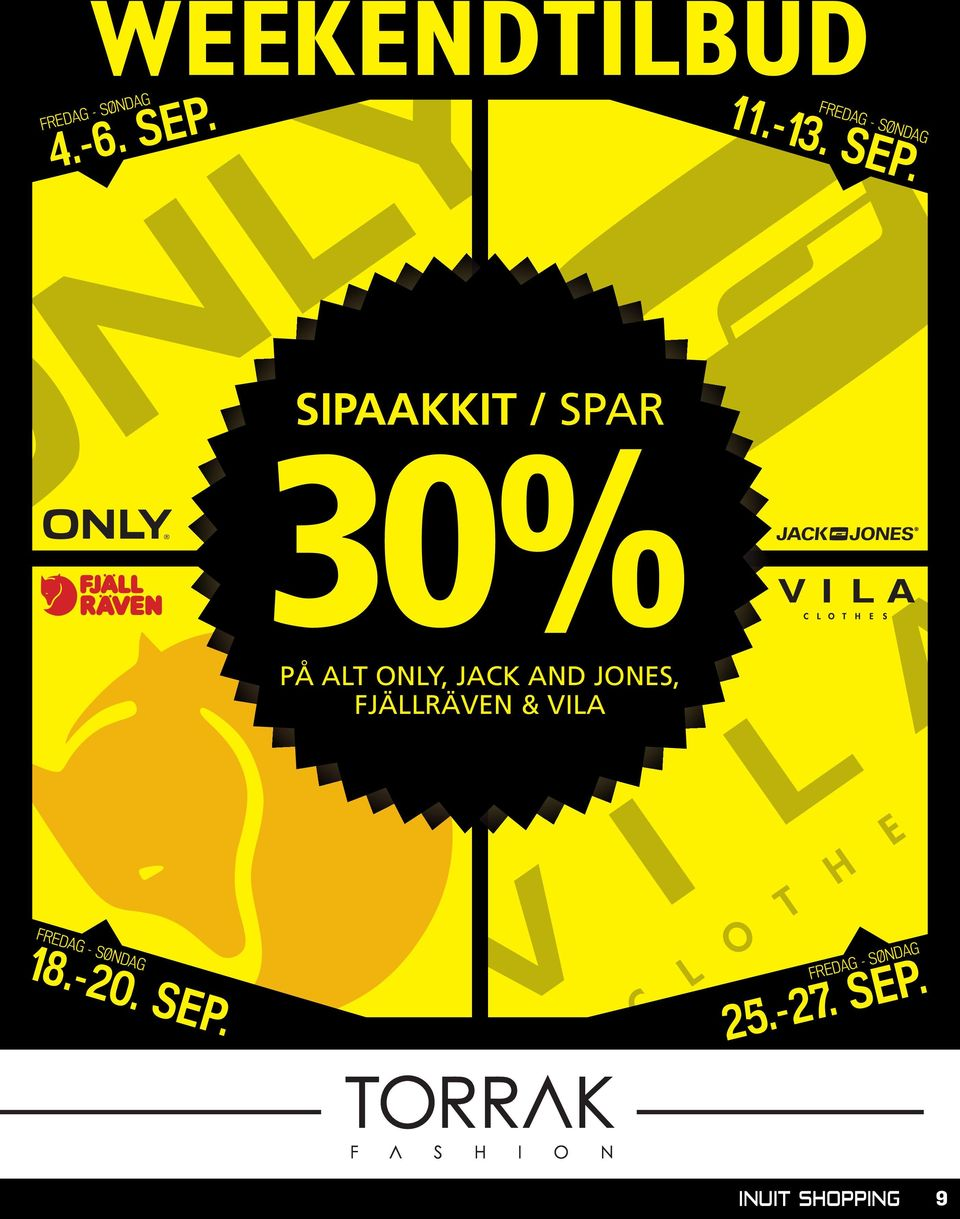 SIPAAKKIT / SPAR 30% PÅ ALT ONLY, JACK AND JONES,