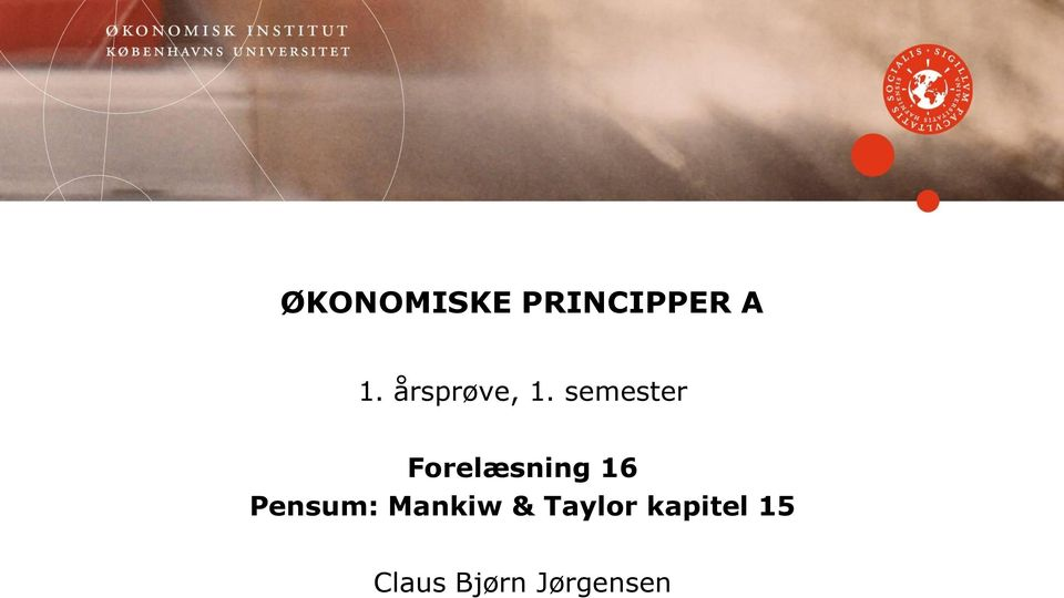 semester Forelæsning 16