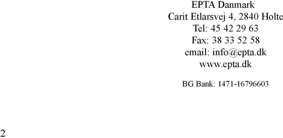 38 33 52 58 email: info@epta.