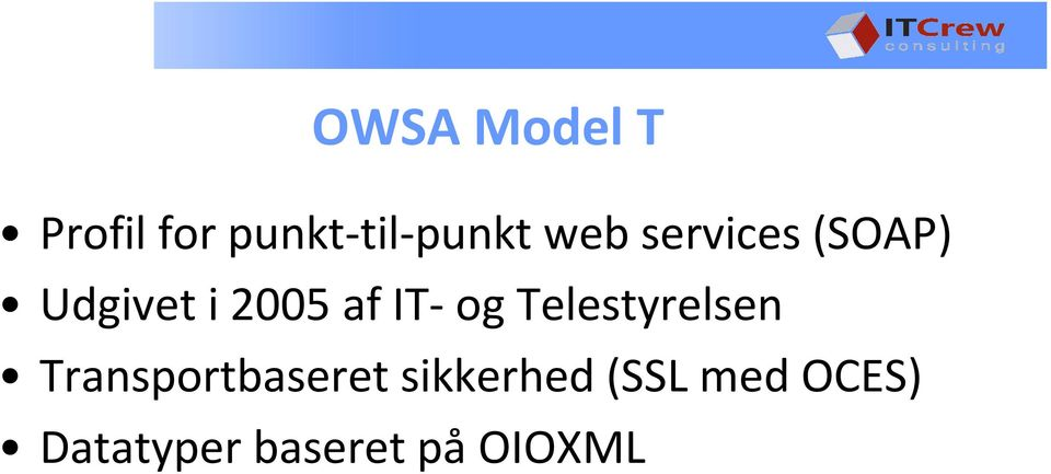 IT-og Telestyrelsen Transportbaseret