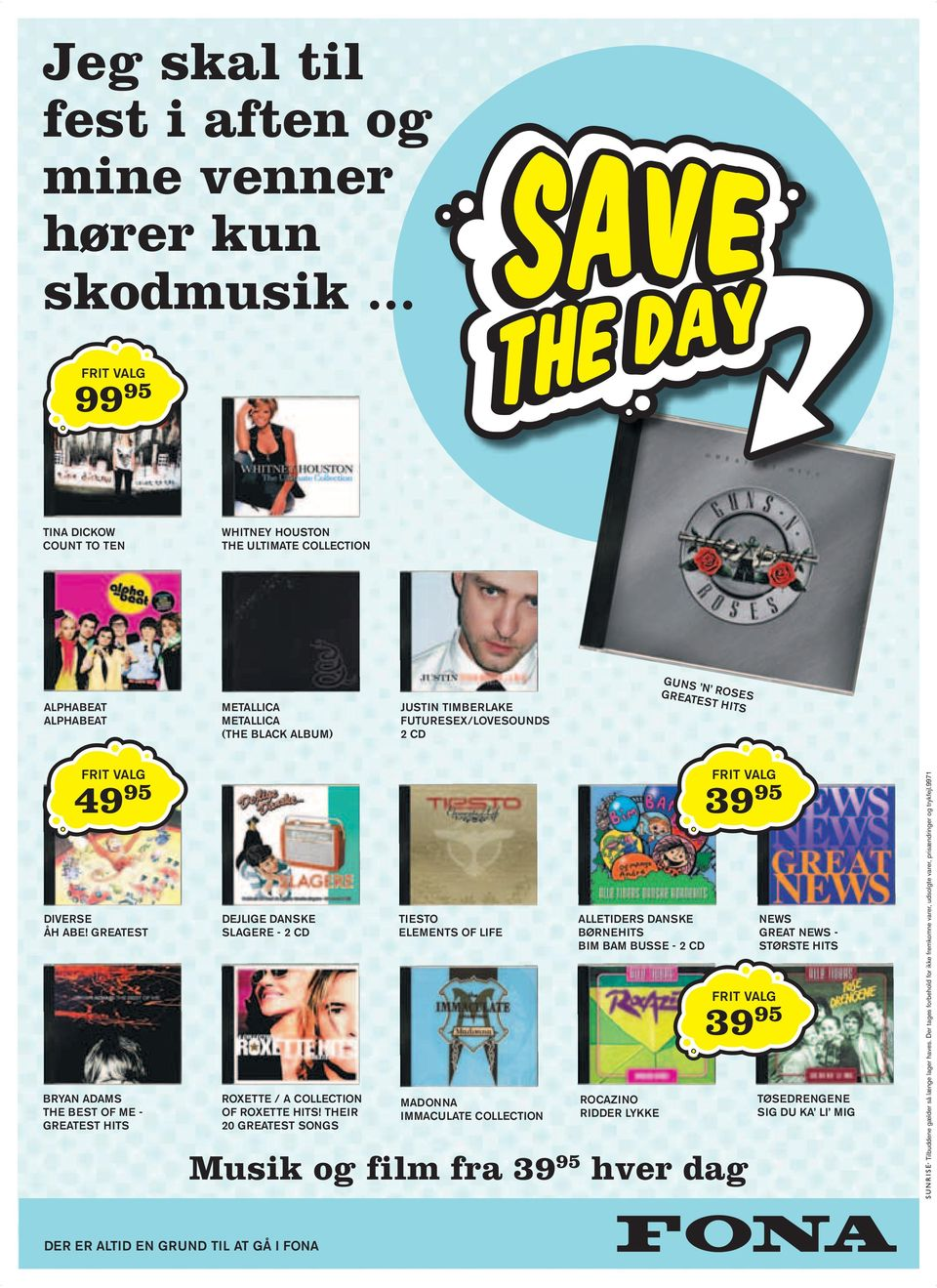 GREATEST HITS FRIT VALG 49 95 DIVERSE ÅH ABE! GREATEST BRYAN ADAMS THE BEST OF ME - GREATEST HITS DEJLIGE DANSKE SLAGERE - 2 CD ROXETTE / A COLLECTION OF ROXETTE HITS!