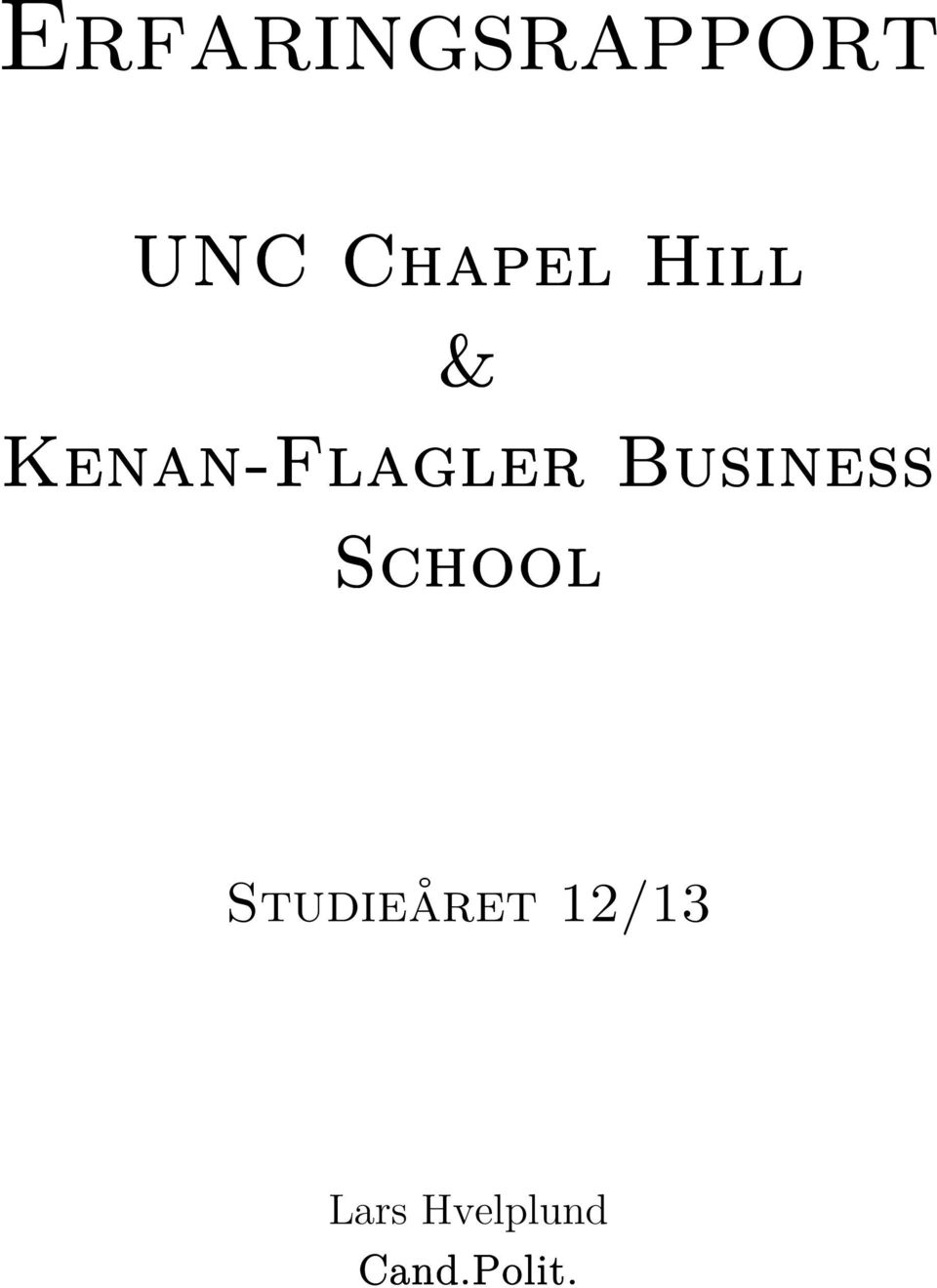 Kenan-Flagler Business
