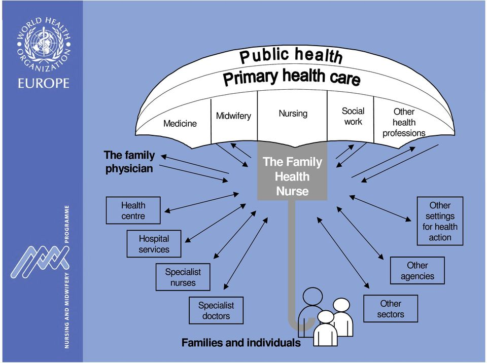 Nurse Other health professions Other settings for health action
