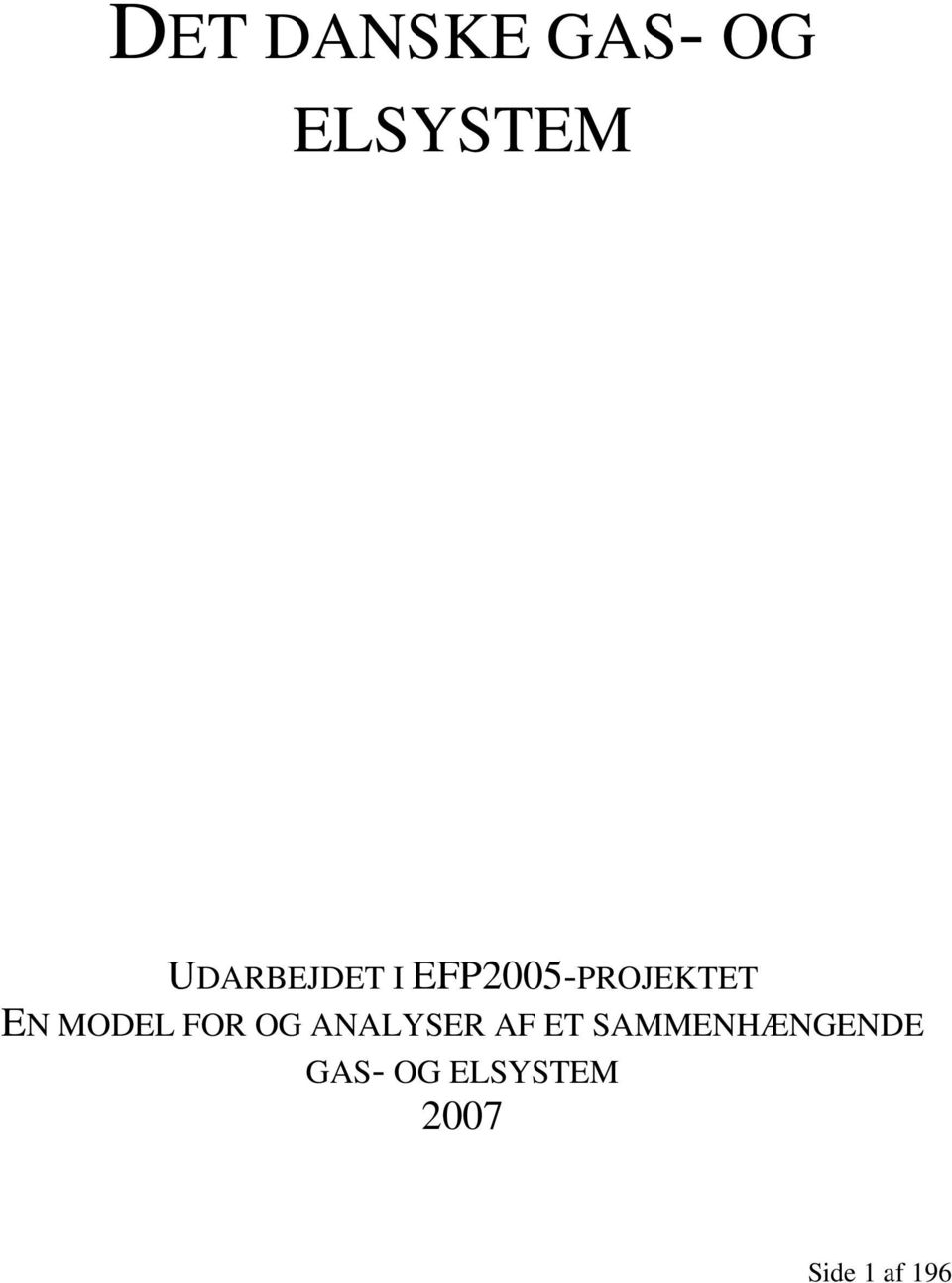 MODEL FOR OG ANALYSER AF ET