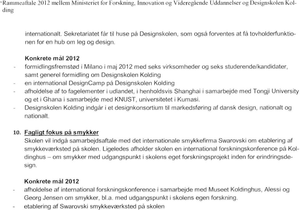 om og Konkrete mal 2012 og nationalt af nationalt 10. Ll!