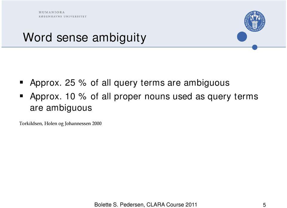 10 % of all proper nouns used as query terms are