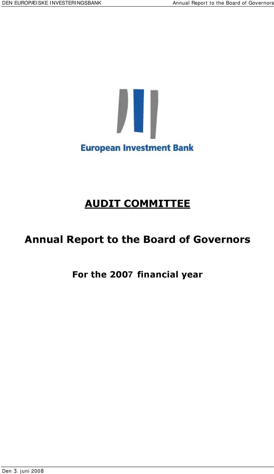 COMMITTEE Annual Report to the Board of