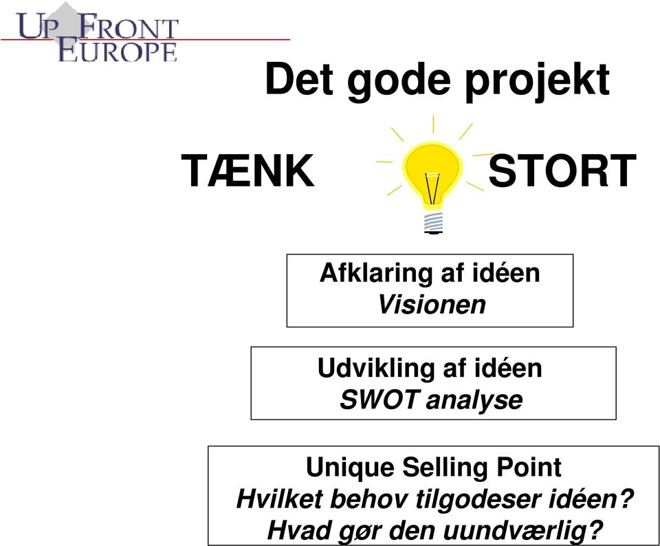 analyse Unique Selling Point Hvilket