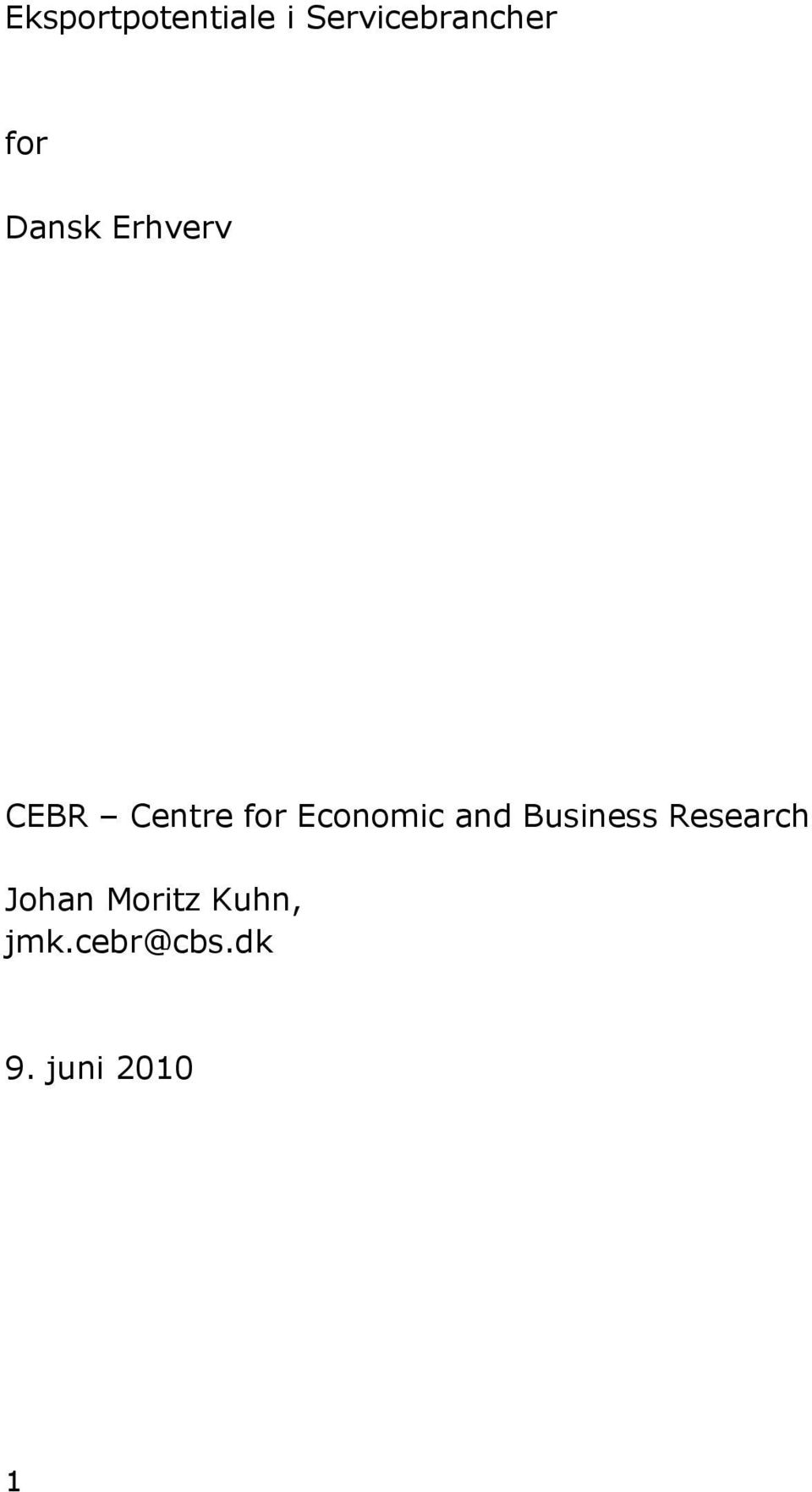 Economic and Business Research Johan