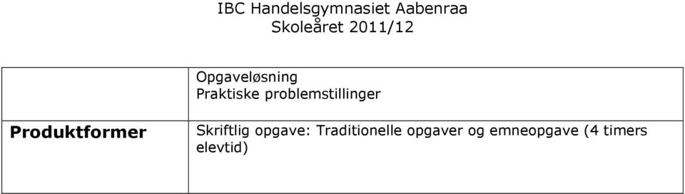 opgave: Traditionelle