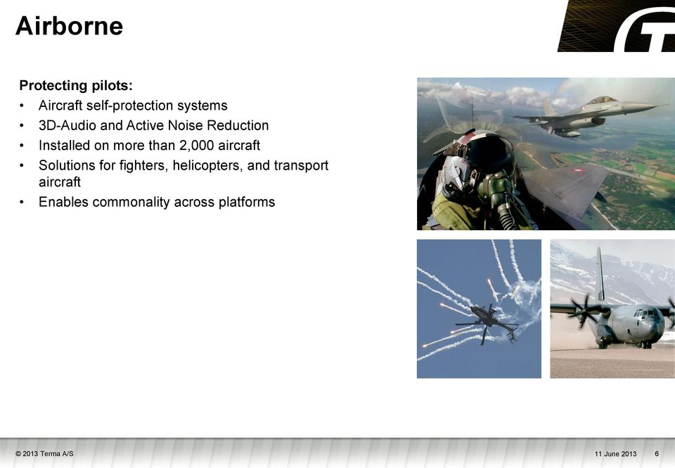 aircraft Solutions for fighters, helicopters, and transport