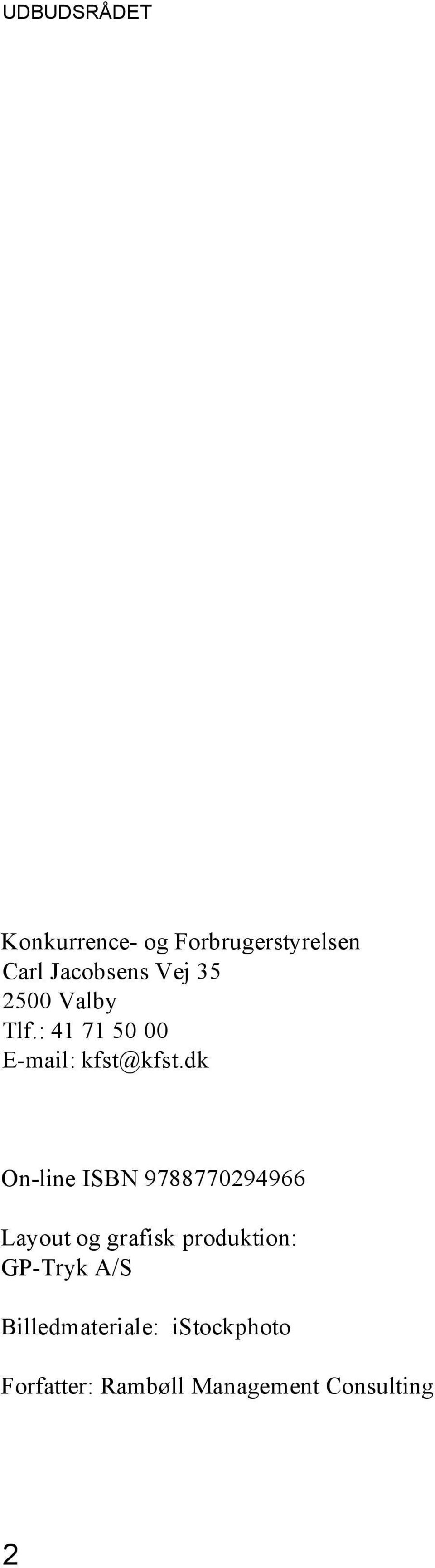 dk On-line ISBN 9788770294966 Layout og grafisk produktion: