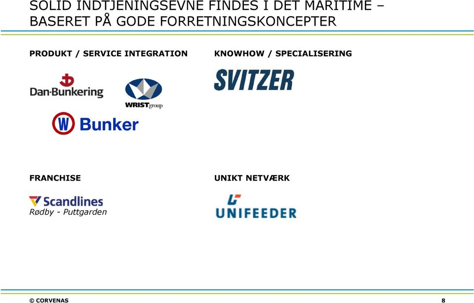 SERVICE INTEGRATION KNOWHOW / SPECIALISERING