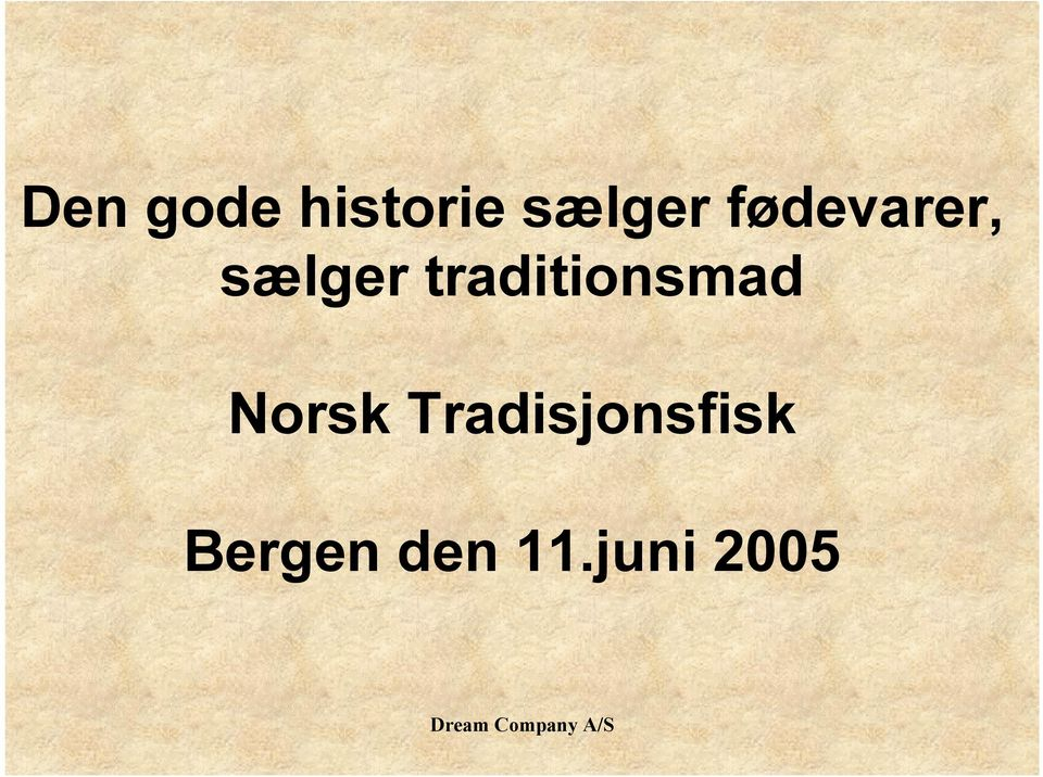 traditionsmad Norsk