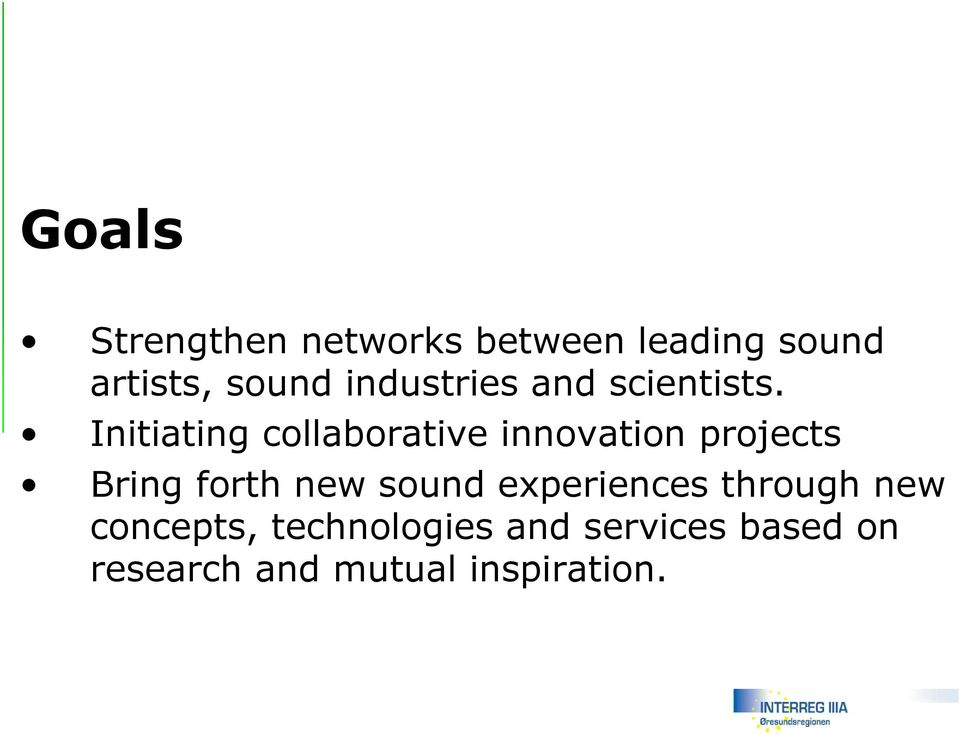 Initiating collaborative innovation projects Bring forth new