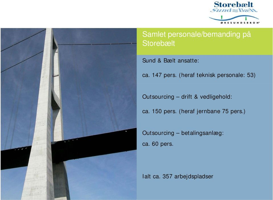 (heraf teknisk personale: 53) Outsourcing drift &