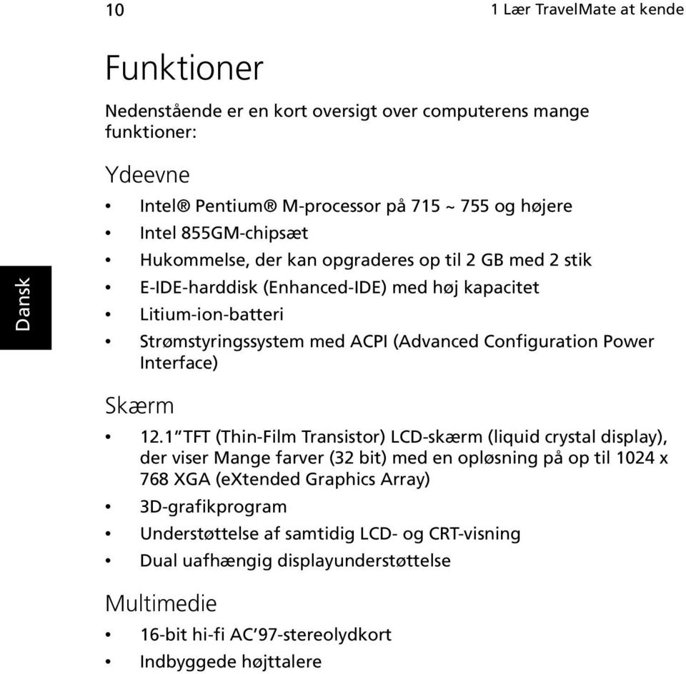 Configuration Power Interface) Skærm 12.
